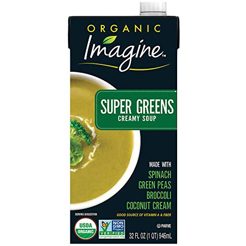 Imagine Organic Creamy Super Soups, Green, 12 Count