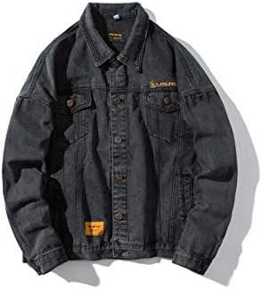 ヴィンテージデニムコートは、ソリッドカラーボタンオーバーコートトップス万能メンズジャケットデニムシャツデニム