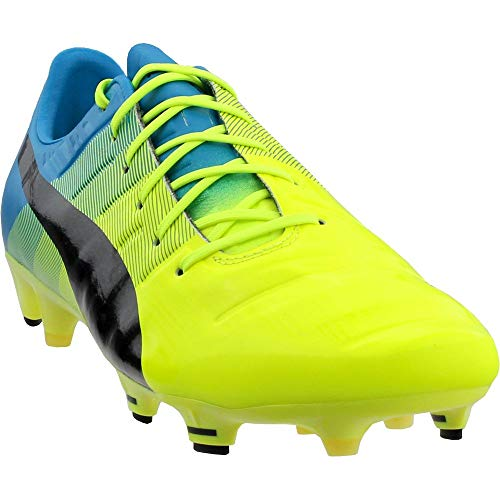 (PUMA Men's Evopower 1.3 FG Soccer Shoe, Safety Yellow/Black, 7 M)