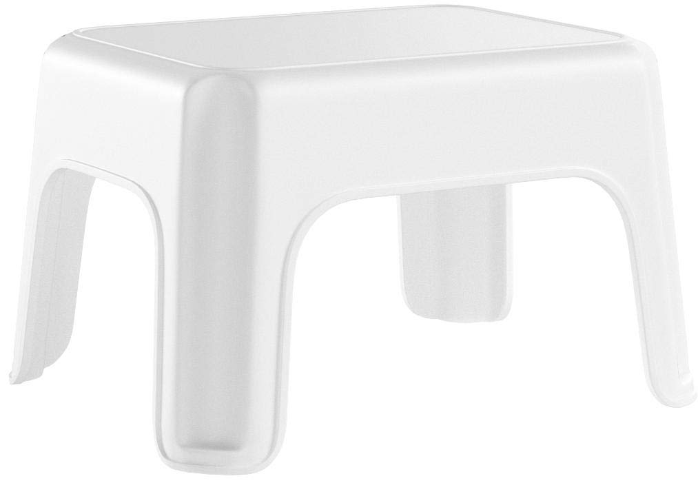 Rubbermaid Step Stool, Small Stool, White, Small (FG420087WHT) by Rubbermaid