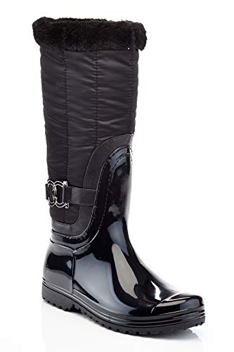 Henry Ferrera Connection-100 Black Ladies Tall Snow/Rain Boot (5)