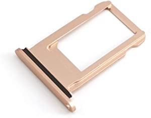 E-repair SIM Card Tray Holder with Rubber Waterproof Ring Replacement for iPhone 8 (4.7 inch) (Rose Gold)