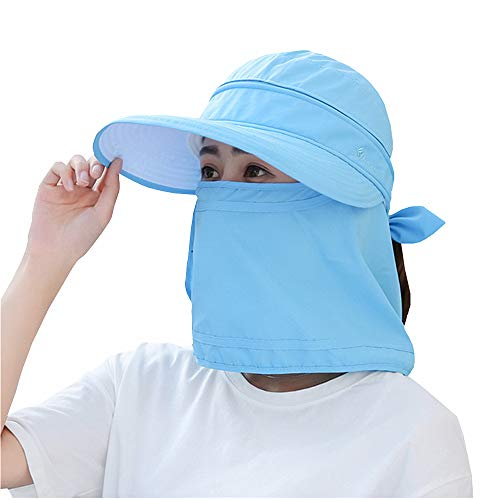 2860450026966 Outdoor UPF 50+ UV Sun Protection Waterproof Breathable Face Neck Flap  Cover Folding Sun Hat for Men Women