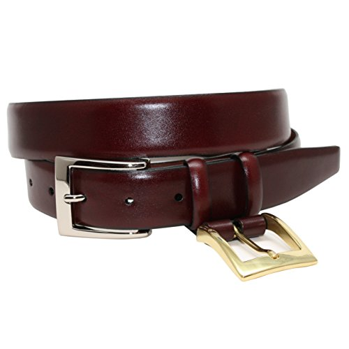 Torino 32MM Italian Croce Calf Burgundy 34