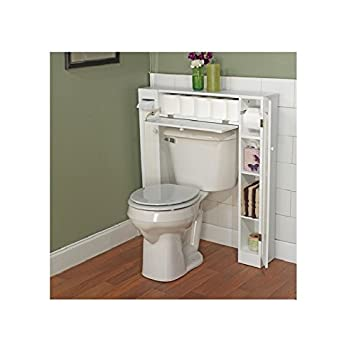 amazoncom 34 x 385 over the toilet cabinet home kitchen - Over The Toilet Cabinet