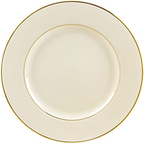 10 Strawberry Street Cream Double Gold Line 12 25 Charger Buffet Plate Set Of 6 Cream Gold
