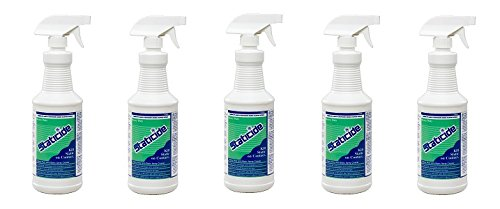 ACL Staticide 2005 Regular Heavy Duty Topical Anti-Stat, 1 qt Trigger Sprayer Bottle (5-Pack)