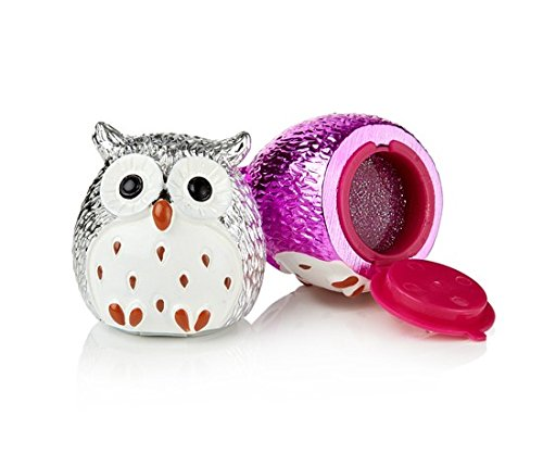 NPW-USA Strawberry/Vanilla Owl Lip Balm Duo, Silver/Pink Metallic (Strawberry Vanilla Lip Balm)