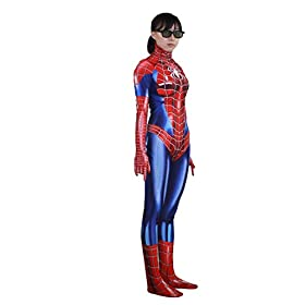 - 41ripi4hbFL - Rieknic Womens Superhero Spandex Zentai Halloween Cosplay Costumes Adult/Kids