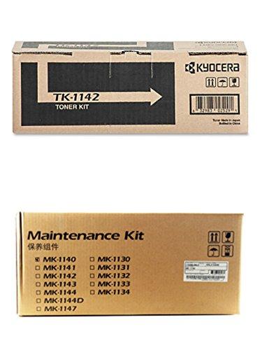 Kyocera TK-1142 Toner Cartridge and MK-1142 Drum + Developer Unit Kit for FS-1035MFP, FS-1135MFP, M2035dn, M2535dn