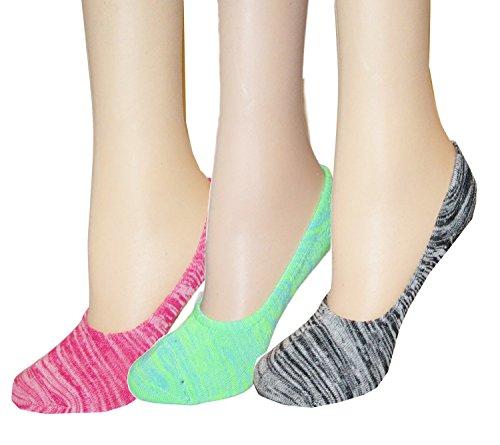 No Show Socks Women Liner Socks 3 Pairs  (Pink)