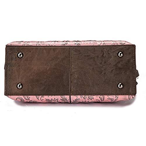 Travail pink Sac bandoulière en Sac Main Sac A pour à à Pink bandoulière Sac Cuir Femmes à de à Main Color A à Dames Main nfxSnwTAqX