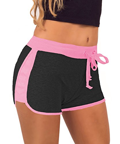 Women%27s+Elastic+Waist+Contrast+Outline+Active+Lounge+Shorts