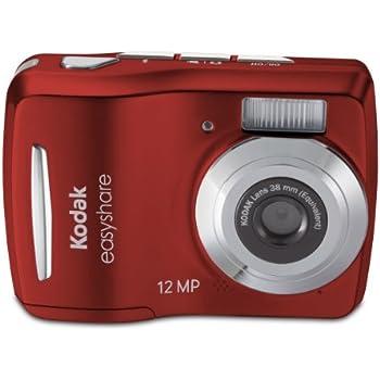 Kodak Easyshare C1505 12 MP Digital Camera with 5x Digital Zoom - Red