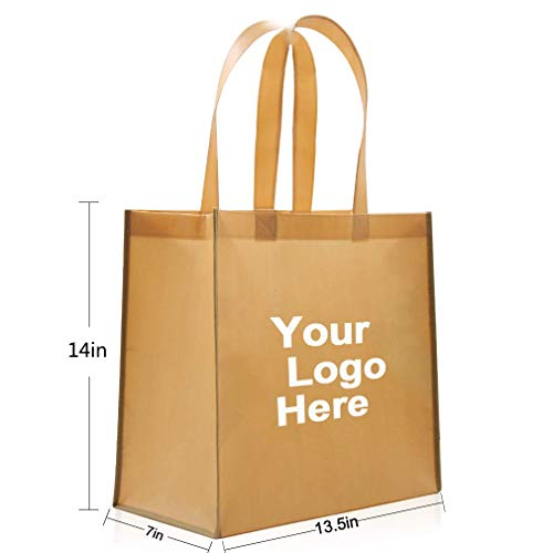 (Economy Tote Bag - 100 Quantity - $1.25 Each - Promotional Product/Bulk with Your Logo/Customized Size: 13-1/2