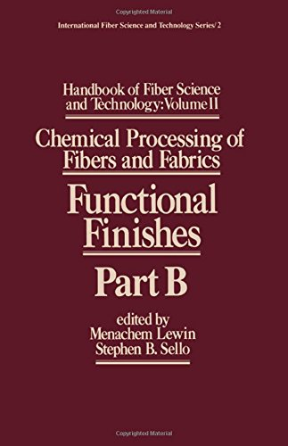 - Handbook of Fiber Science and Technology: Volume 2: Chemical Processing of Fibers and Fabrics. Functional Finishes, Part B