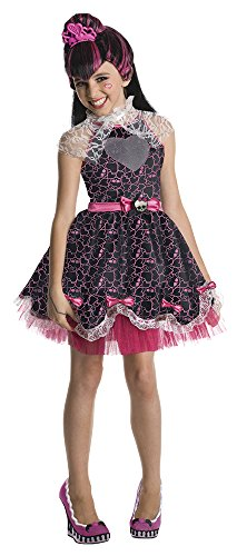 Draculaura Monster High Doll Costume (Monster High Sweet 1600 Deluxe Draculaura Costume, Small)