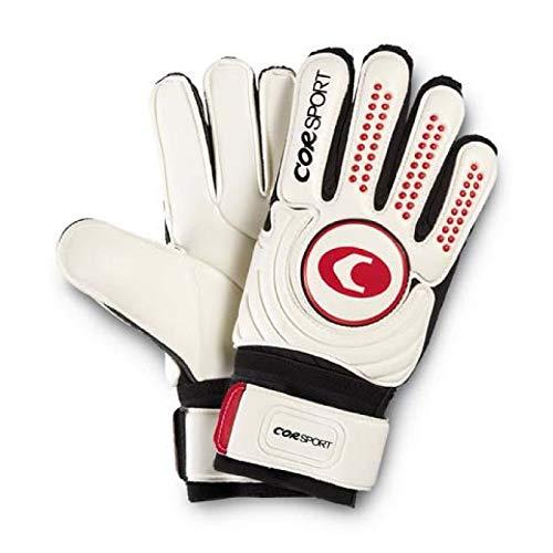 COR Sport 3652 – Guantes portero profesional, blanco/rojo