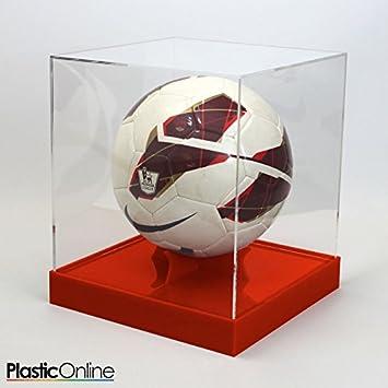 Plastic Online Ltd Football Display Case Red Base Amazoncouk New Football Display Stand Plastic