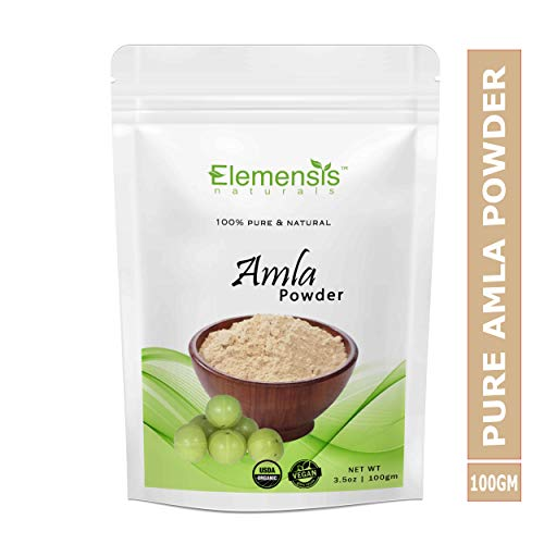 Elemensis Naturals Pure & Natural Amla Powder for Face, Hair Care & Scalp Treatment, 100gm