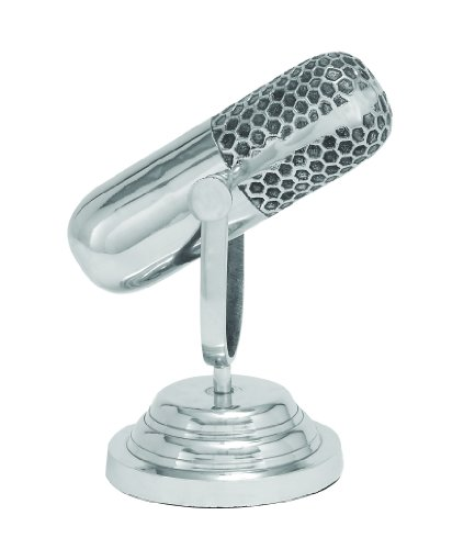Deco 79 34652 Traditional Aluminum Microphone Sculpture, 9″ X 9″ Review