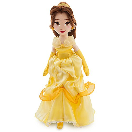 Belle Plush Doll - Disney Belle Soft Doll - Beauty and the Beast - 18 Inch