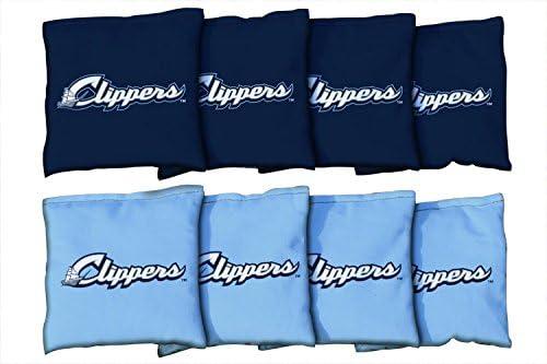 MiLB野球Columbus Clippersユニセックス940562 Cornhole Bag Set (All Weather)、マルチカラー、1サイズ