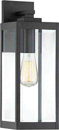 Quoizel WVR8406EK Westover Modern Industrial Outdoor Wall Sconce Lighting, 1-Light, 100 Watt, Earth Black (17