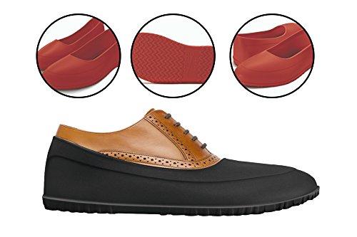 AZZEZO Galoschen schützen Ihre Schuhe vor Regen, Schnee und Matsch - Rot