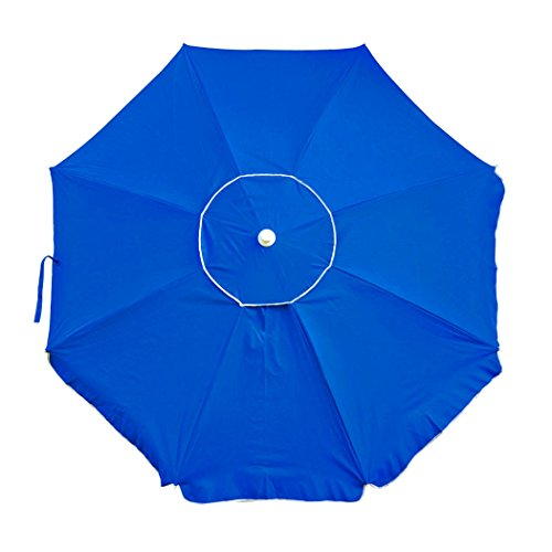 Shadezilla 7.5 ft. Wind Resistant Beach Umbrella with Dual Steel Rib Structure UPF 100, Carry Bag, Accessory Hanging Hook For Sale