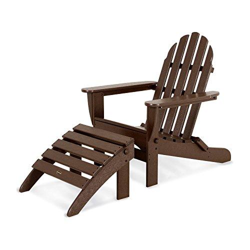 POLYWOOD PWS136-1-MA Classic 2-Piece Adirondack Chair Set, Mahogany ()