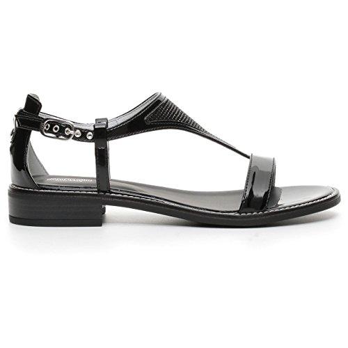 17720 NERO Scarpa donna sandalo Nero Giardini pelle made in italy