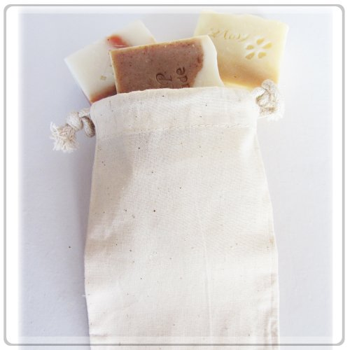 Cotton Muslin Bags Wedding Bags 3x4 Inch Pack of 24