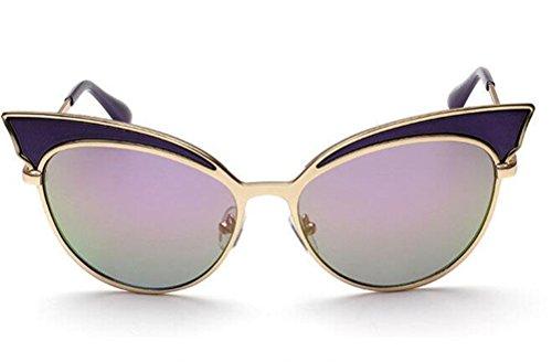 GAMT Trend Retro Sexy Cat Eye Sunglasses Yurt Sun Glasses Purple Frame Purple Green Lens