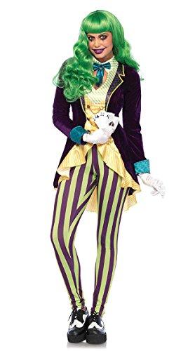 Leg Avenue Women's Wicked Trickster Costume, Multi, Medium