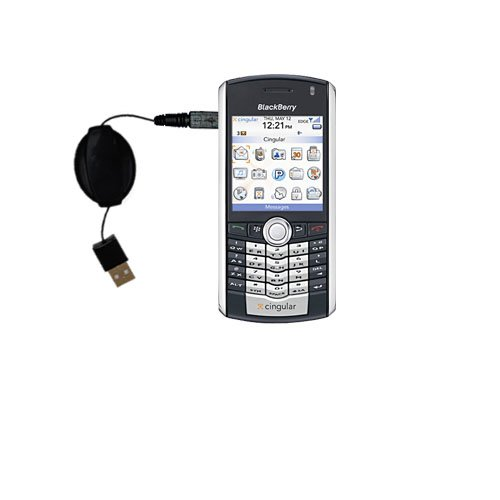 Compact and retractable USB Power Port Ready charge cable designed for the Blackberry pearl and uses TipExchange Blackberry Pearl Usb Port