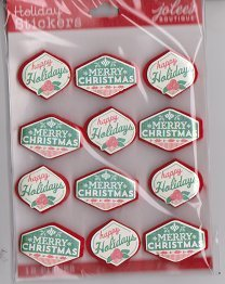 Jolees 3d Christmas Greeting Repeat Stickers