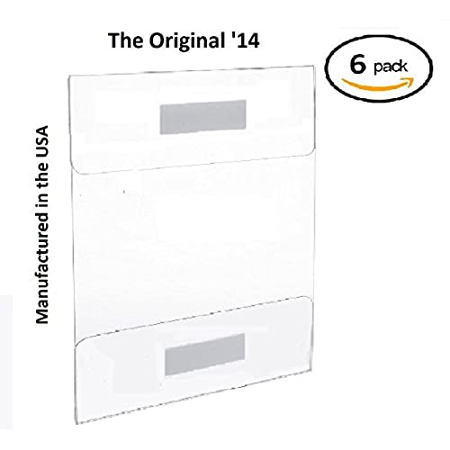 Tu0027z Tagz The Original 6 Pack Of Wall Mount 8.5 X 11 Or 11 X 8.5 Clear  Acrylic Sign Holders With ADHESIVE, No Drilling