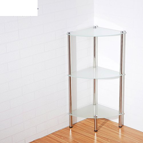 Bathroom storage rack/ corner toilet basin/Triangular glass bathroom shelf of stainless steel-B well-wreapped
