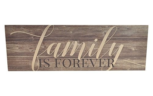 Family Sign - Family is Forever Wood Wall Sign 6x18