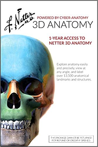 Netter 3d Anatomy Retail Access Card 1 Yr Online Individual