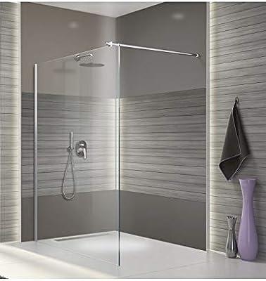 Leda – Mampara Fija ducha abierta con barra de estabilización Larg ...