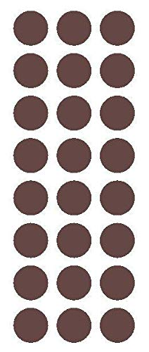 (x120 Brown Round Sticker Code Inventory Label Dot Decal Mini Small Pack Clear Vinyl)