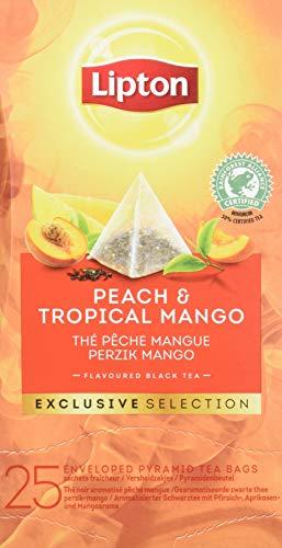 Lipton Seleccion Exclusiva Te Negro Melocoton Y Mango - 6 Cajas Con 25 Piramides