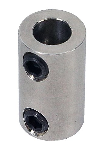 3/16 inch to 6mm Stainless Steel Set Screw Shaft Coupler ServoCity 625178