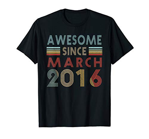 Vintage March 2016 Shirt 3 Years Old 3rd Birthday Gift ()