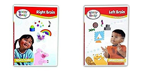 Brainy Baby Right Brain Dvd - Brainy Baby Right Brain and Left Brain Creative and Logical Thinking DVD Set of 2 Deluxe Edition