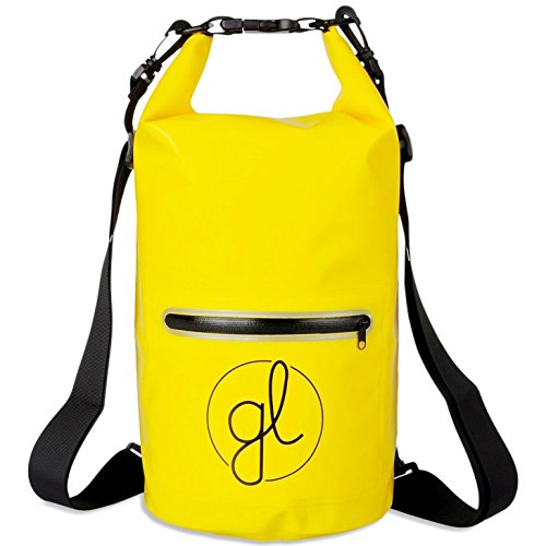 Man Overboard Light (Good Lyfe Waterproof Dry Bag Backpack - 10L - Exterior Zip Pocket Reflective Trim And 2 Detachable Shoulder Straps - Roll-Top Opening - Great For Hiking Beach Water Sports Kayaking Boating Canoeing)