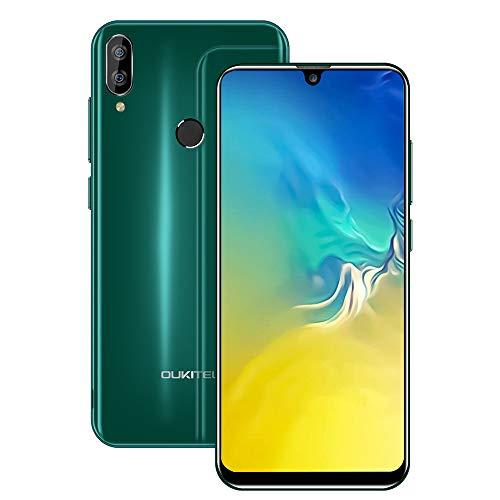 OUKITEL C16 Unlocked Phones, Cell Phones Unlocked 5.7″ HD+ Waterdrop Display Smartphones Android 9.0 8+5MP 16GB ROM+2GB RAM Dual Camera 2600mAh Battery Face Unlock & Fingerprint ID (Green)