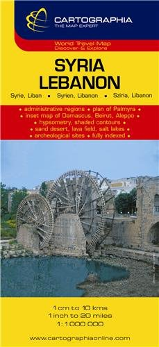 Syria, Lebanon = Syrie, Liban = Syrien, Libanon = Sziria, Libanon (Country Map)